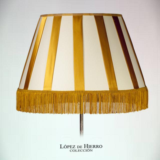 Pantalla Rayas Oro/Beig
