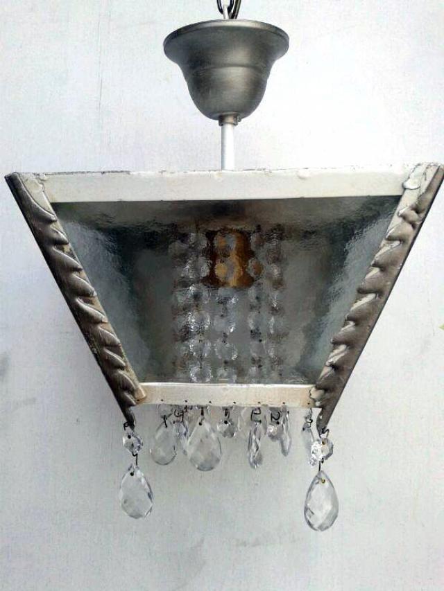Plafón invertido decapé transparente