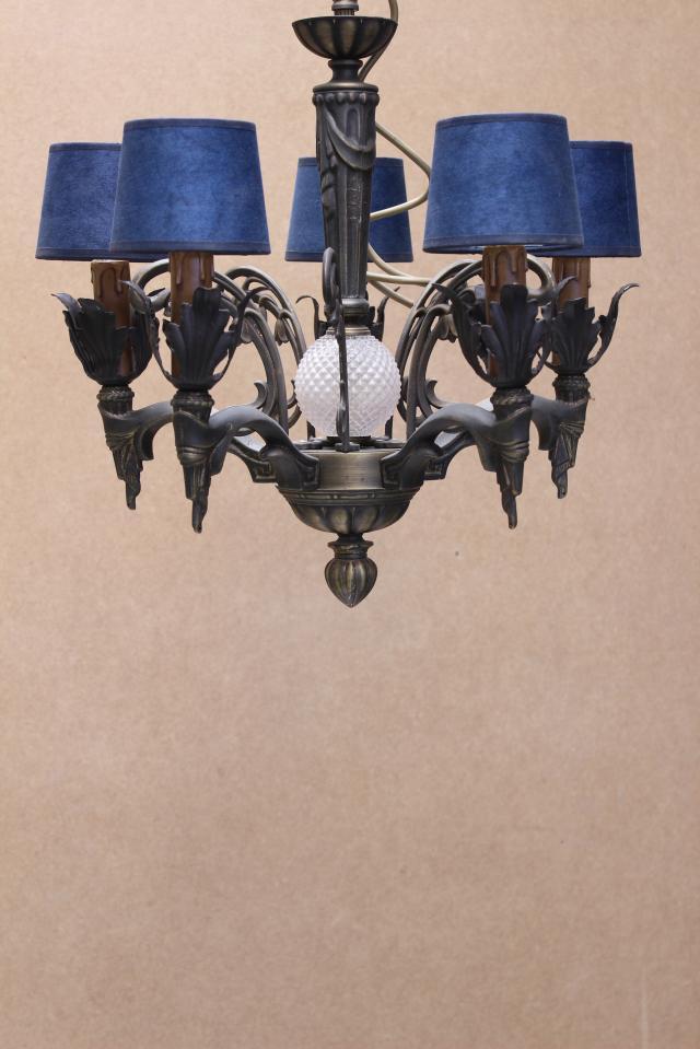 Lámpara bronce tapa roma 5 luces