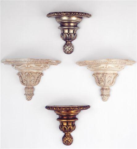Mensula grande decape y pequeña plata, oro