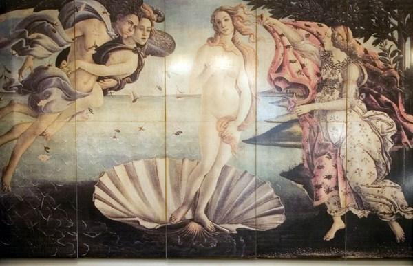 "Mural ""Venus de Botticelli"" 5 hojas"