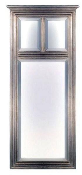 Espejo cuadrado dos lunas plata