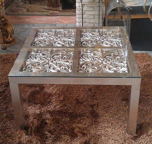 Mesa Renacimiento acabado en plata